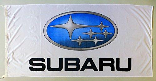SUBARU 3D FLAG WHITE 5x2.5 ft.