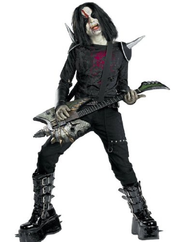 [Metal Mayhem - Size: Child M(7-8)] (Rocker Costume For Boys)