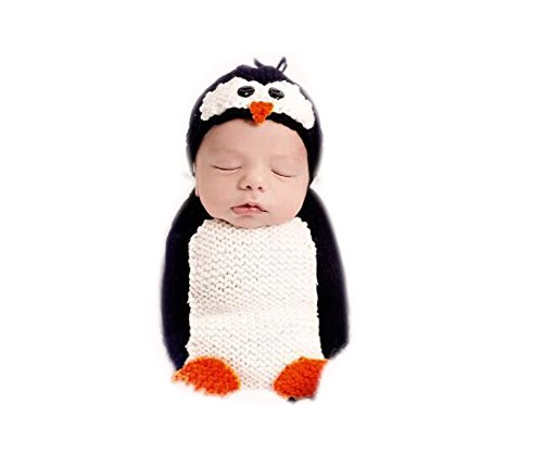 Fashion Cute Penguin Hat Sleeping Bag Unisex Newborn Boy Girl Baby Outfits Photography Props for $<!--$15.90-->