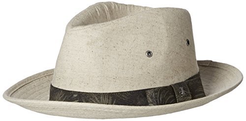 Original Penguin Men's Linen Fedora, Natural, - Cap Penguin Original Linen