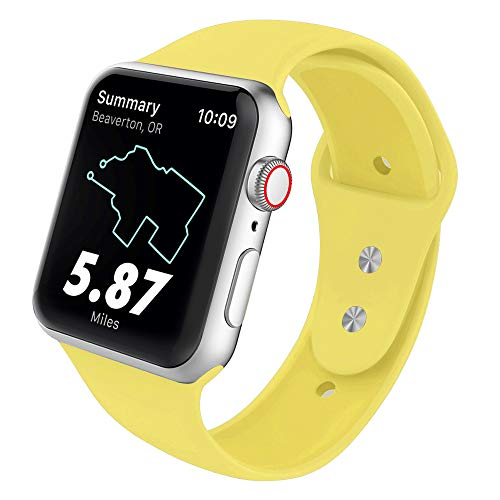 SYRE Sport Band Compatible for Apple Watch 38mm 42mm 40mm 44mm, Soft Silicone Replacement Strap for iWatch Series 4,Series 3,Series 2,Series ()