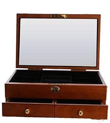 XWYSSH主催 アンティークソリッドウッド木製の宝石箱、ダブルキャパロックビッグヨーロッパのシンプルな木製レトロジュエリー収納ボックスナチュラルウッドジュエリーボックス XWYSSH (色 : 1)