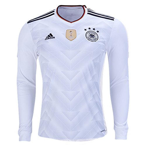 adidas Mens Germany Home Long Sleeve Jersey Small White/Black