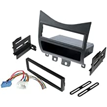 Single Din Dash Kit with Wire Harness Fits Honda Accord 2003-2007 Radio Stereo Installation