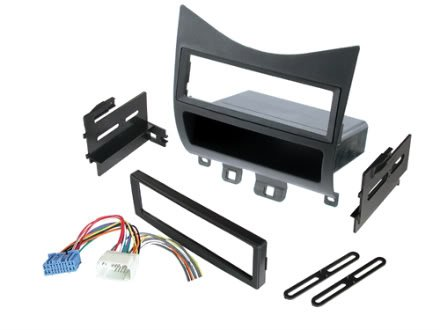 Radio Stereo Installation Single ISO Din Dash Kit with Wire Harness Adapter fits Honda Accord 2003-2007