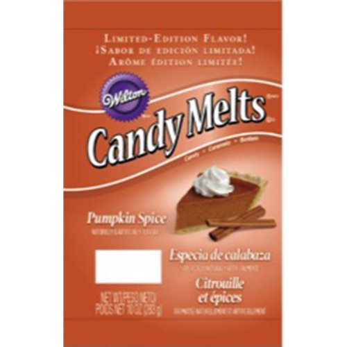Wilton 1911-123 Pumpkin Spice Candy Melt, 10 oz package -