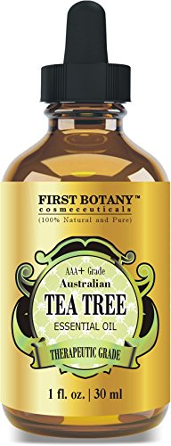 100% Pure Australian Tea Tree Essential Oil with high conc. of Terpinen - A Known Solution to Help in Fighting Acne, Toenail Fungus, Dandruff, Yeast Infections, Cold Sores. (1 fl oz) (Best Way To Cure Dandruff)