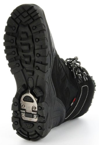 ConWay Boots Winter-Stiefel schwarz Eiskralle Warmfutter TEX Herren Schuhe Grenoble Schwarz