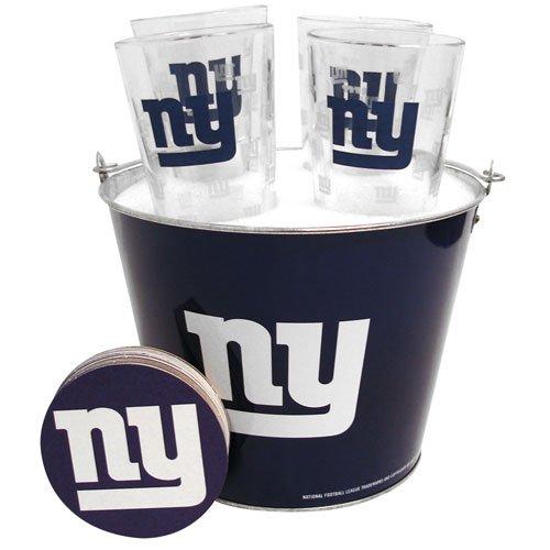 NFL New York Giants 5-Quart Gift Bucket Set with Satin Etch - Satin Etch Bucket