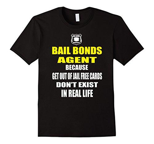 Mens Bails Bondsman T Shirt Gift Idea Funny Bail Bonds T Shirt XL Black Bail Bonds