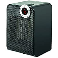 Modernhome Space Heater, Digital Touch-Activated Thermostat, Auto Shut Off Timer, Fan Function, Gray