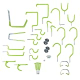 Stalwart 75-ST6031 30 Pc Hang it Yourself Home Garage Wall Hook Kit - Lime Green