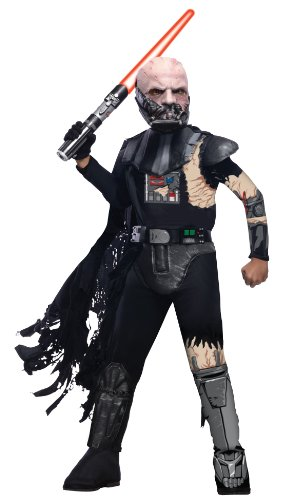 Costume Vader Darth Damaged Battle (Star Wars Child's Deluxe Darth Vader with Battle Damage Costume,)