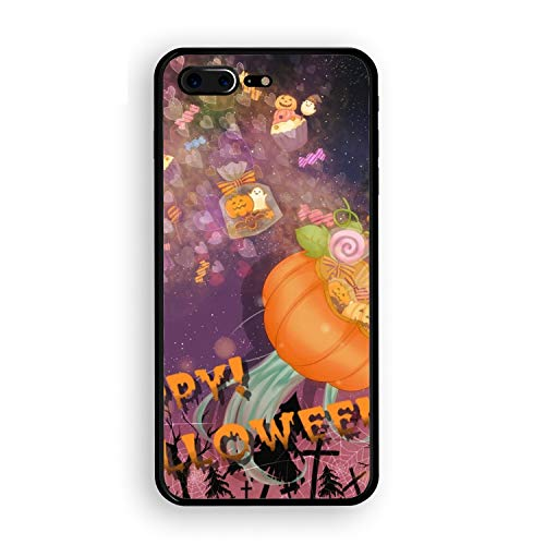 Holiday Halloween Hatsune Miku Vocaloid Printed iPhone 7/8 Plus Cover Shockproof Hard Tempered Glass Compatible for iPhone 7/8 Plus Case 5.5