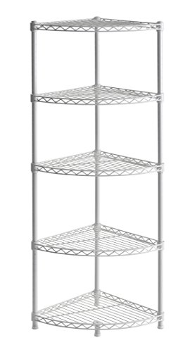 - Muscle Rack WSCR141447 5-Shelf Steel Wire Corner Shelving Unit, 14