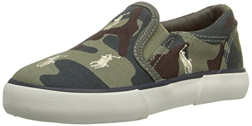Polo Ralph Lauren Kids Bal Harbour RPT Canvas Sneaker ,Army