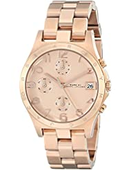 Marc by Marc Jacobs Womens MBM3074 Henry Classic Rose Gold-Tone Stainless Steel Watch with Link Bracelet
