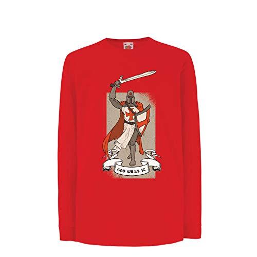 329d2cf5 lepni.me Kids T-Shirt God Wills it! The Knight Templar Crusader's Red
