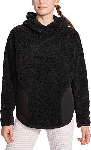 Nike Womens Sherpa Therma Fleece Training Hoodie (Black, XX-Large)