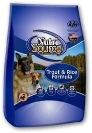 Nutrisource Trout Rice Dog Food 30 Lb