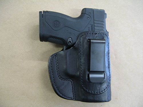Beretta Nano 9mm IWB Leather In The Waistband Concealed Carry Holster CCW BLACK RH