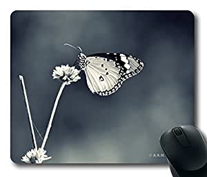 Butterfly 3 Bw Mouse Pad Desktop Laptop Mousepads Comfortable Office Mouse Pad Mat Cute Gaming Mouse Pad by icecream design