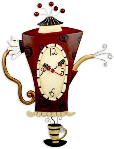 Allen Studio Steamin Tea and Coffee Pot Wall Clock