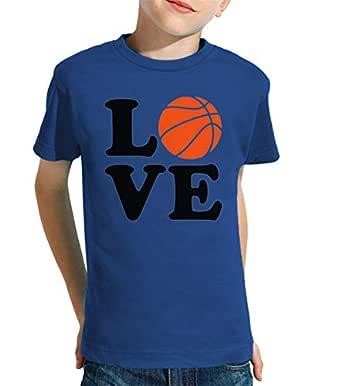 latostadora - Camiseta Amor de Baloncesto para Nino y Nina Azul ...