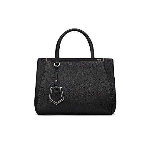 Fendi Women Handbag Petite 2Jours Black Elite Calfskin