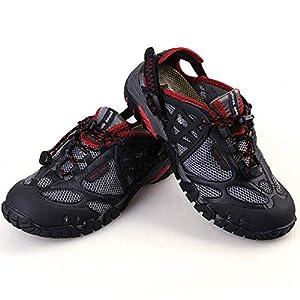 Uomini Sandali Sneakers Air Mesh Traspirante Impermeabile Antiscivolo Scarpe Maschio Outdoor Traspirante Resistente all'Usura Calzature per la Camminata Fitness