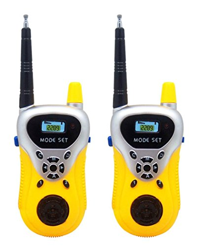 ble Wireless Electronic Walkie Talkies for Kids, Two-Way Long Range Radio Transceiver for Children Outdoor Toy (Yellow) (Microphone Pak)