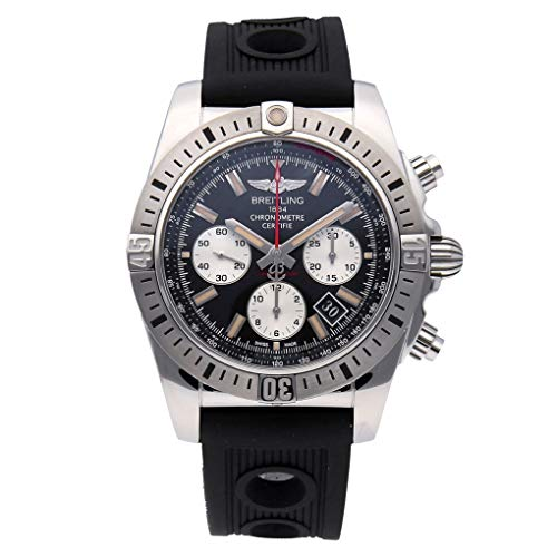 Men Watch Luxury (Breitling Chronomat 44 Airborne Stainless Steel Auto Black Ocean Racer Mens Watch AB01154G/BD13 (Certified Pre-Owned))