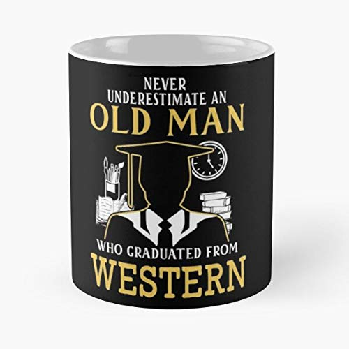 Western University Halloween (Never Underestimate Old Man Who Graduated From Western Connecticut State University Classic Mu - The Funny Coffee Mugs For Halloween, Holiday, Christmas Party Decoration 11 Ounce White)