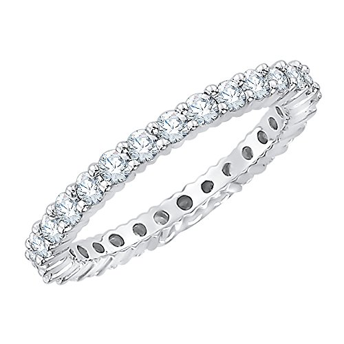Diamond Eternity Band in Sterling Silver (7/8 cttw) (I-Color, SI3-I1-Clarity) (Size-7.25) by KATARINA