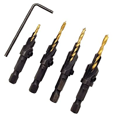 Milescraft 5341 Counter Bit Set, 4-Piece