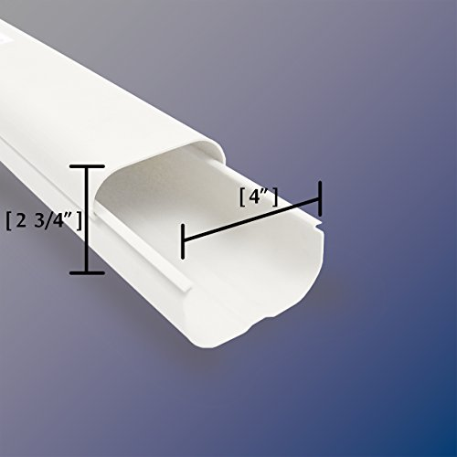 Jeacent 4'' W 14'Ft Mini Split PVC AC Line Set Cover Kit, Tubing Cove for Central Air Conditioner, Heat Pump by Jeacent (Image #1)