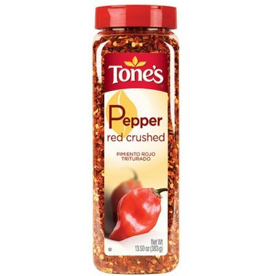 Tone's Crushed Red Pepper - 13.5 oz. shaker (2 Pack)