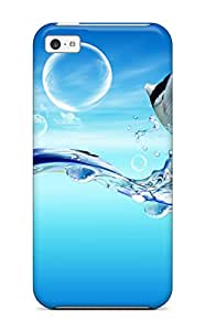 2006171K71853447 Durable Defender Case For Iphone 5c Tpu Cover(fish Dreamy World)
