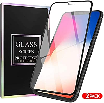 Glass Screen Protector Designed for iPhone 11 Pro Max/iPhone Xs max with Touch Accurate and Impact Absorb + Easy Installation Tray-aA16