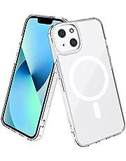 leChivée magnetische doorzichtige hoesje met Mag Safe Compatibel met iPhone 13 2021, ingebouwde magnetische cirkel, magnetische pc Krasbestendig Schokbestendige Clear Case voor iPhone 13 6.1 ''