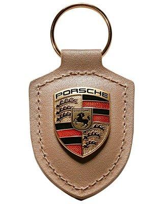 Crest Key Porsche (GENUINE Porsche Crest Keyring (Beige))