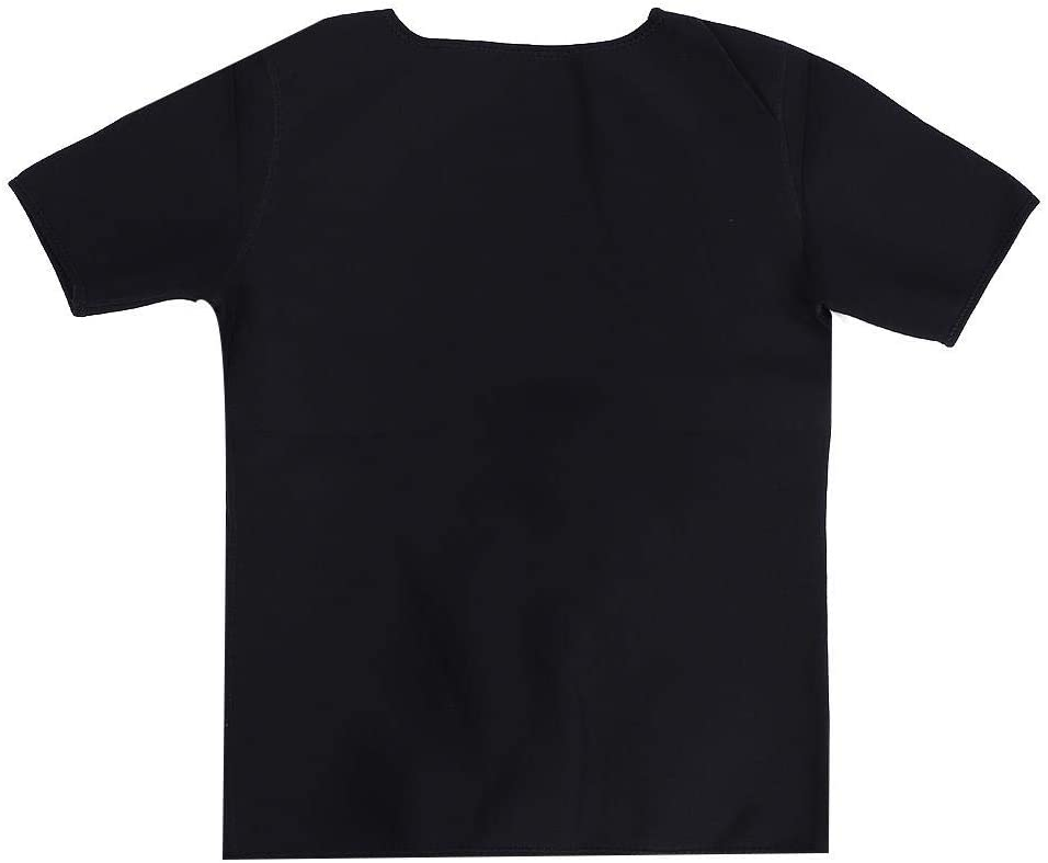 S Camicia da Sauna in Neoprene da Donna Fitness Dimagrante Tuta da Sauna Camicia per Il Sudore Calda Shaper per Il Corpo a Maniche Corte