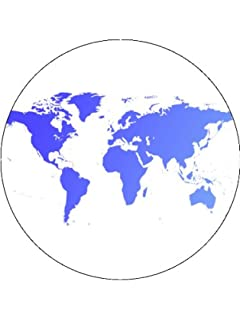 Designer stencils world map cake stencil c977 amazon 75 world globe map cake toppers decorations on rice paper sciox Images