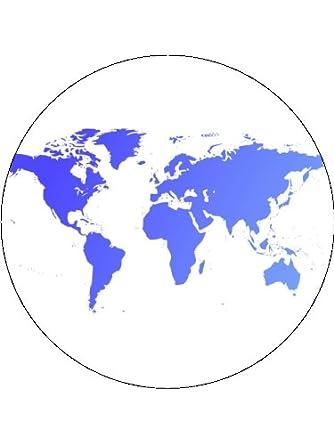 Map Of Uk On Globe.7 5 World Globe Map Cake Toppers Decorations On Rice Paper Amazon