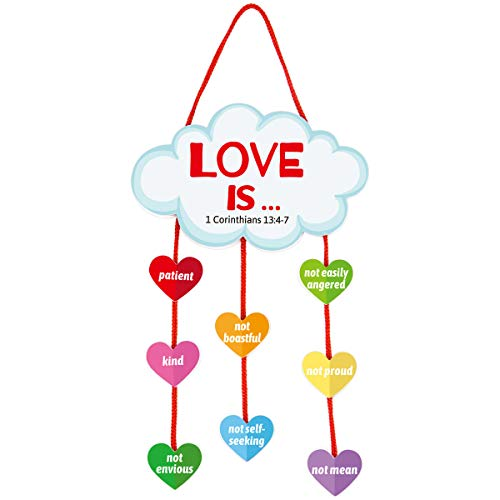 Valentine Foam Heart Ornament Craft Kit for Valentine#039s Day Gift Sunday School Supply Classroom Party 12Pcs