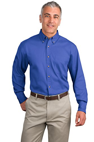 Port Authority a maniche lunghe twill Shirts Faded Blue XXX-Large