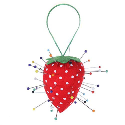 Home-X Strawberry Pincushion. Pin Cushion (pins not included)