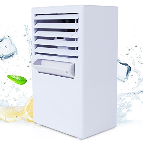 Dressffe Portable Air Conditioner Fan Mini Evaporative Air Circulator Cooler Humidifier, Three Wind Speed, Spray Cooling Mist, Air refreashing, Easy to Use (White) by Dressffe (Image #2)