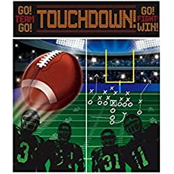 Football Frenzy Birthday Game Scene Setters Wall Decorating Kit, 5 Pieces, Made from Vinyl, Multicolor, by Amscan