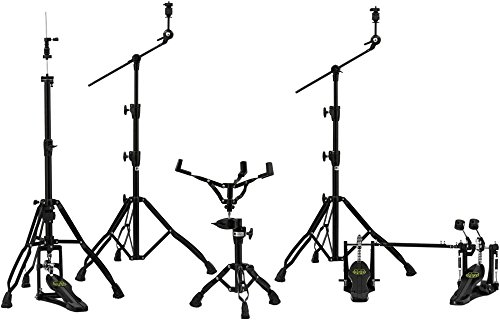 - Mapex HP8005EB-DP Armory 800 Hardware Pack with Two Booms, Snare Stand, Hi-Hat Stand and Double Pedal-Black Plated